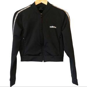Adidas crop zip up